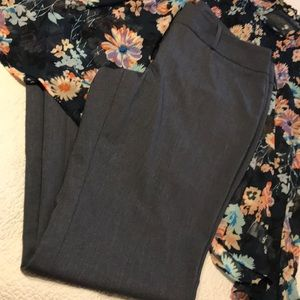 Blue/grey straight leg dress pants